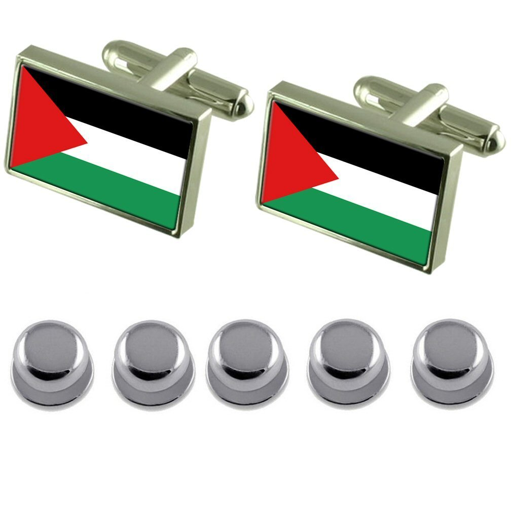 Shirt Dress Studs Palestine Flag Cufflinks