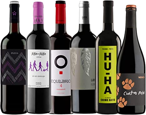Pack Vino Tinto - Vinos Económicos y sorprendentes - Caja 6 Vinos Tintos: Amazon.es: Alimentación y bebidas