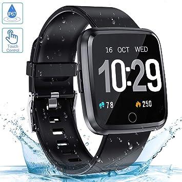 Zagzog Reloj Inteligente, Pulsera Inteligente con Pulsómetro Pulsera Actividad Impermeable Reloj Deportivo con Multiples Modos de Deporte Smartwatch ...