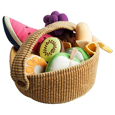 9-piece Fruit Basket Set (Soft) : Baby Shape And Color Recognition Toys : Baby