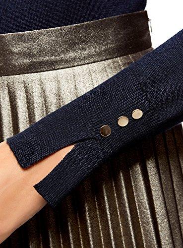 Basique 7900n Pull en Bleu Femme Collection sous oodji Viscose q4ZPx