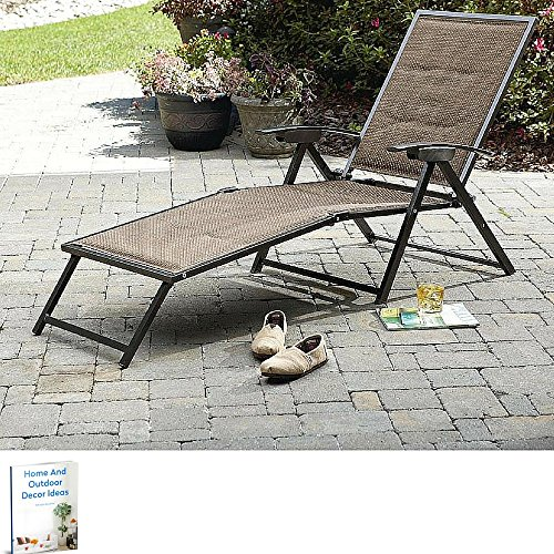 Patio Lounging Chair,Sunlounger Foldable Furniture Modern Elegant,Metal Lawn Garden,Balcony,Pool,Sunny Day Lounge Chair (Metal Modern Lounge Chairs)