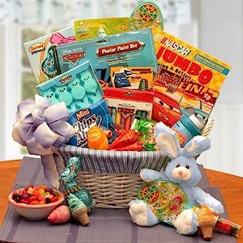 Image Unavailable  sc 1 st  Amazon.com & Amazon.com : Boys Disney Themed Easter Gift Basket : Grocery ...