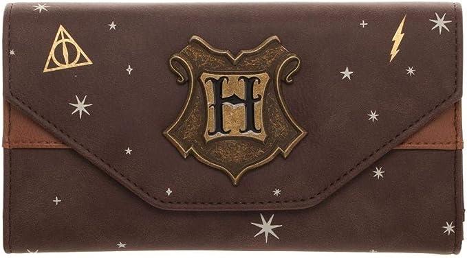 Harry Potter Hogwarts Crest Faux Leather Tri-Fold Wallet Standard