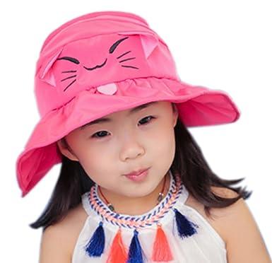 30f57d6e075 Amazon.com  CHUNG Toddler Little Girls Summer Cool Sun Hat Top Open 3-7Y  Cat Ear