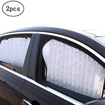 Magnetic Car Curtain to Block UV Rays and for Privacy 2pcs Blue ZATOOTO Side Window Sunshades for Car