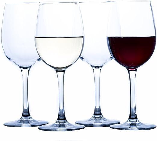 Amazon.com: Savona - Juego de 2 copas de vino irrompibles y ...