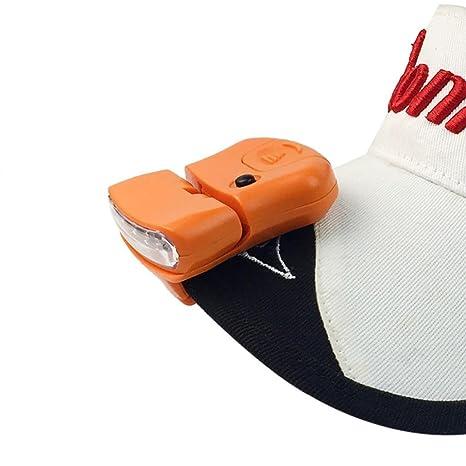ALIKEEY 5Led Cap Hat Brim Clip LáMpara Head Faro Que Acampa Yendo De Pesca Clip Cap Luz Exterior Camping Senderismo Faros Bici De Mano Cargador Onda ...