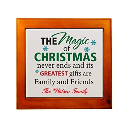0708f4bbb8bb Amazon.com: Personalized Custom Text The Magic of Christmas Never ...