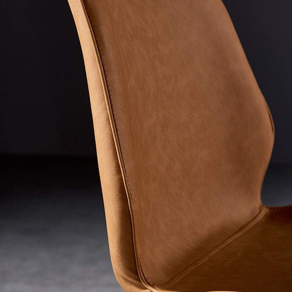Esszimmerstuhl barhocker Haushalt freizeitstuhl küche esszimmer Sessel esszimmerstuhl pu Leder Kissen und goldene Beine | Sitzhöhe 46cm, maximale Belastung 330LBS D