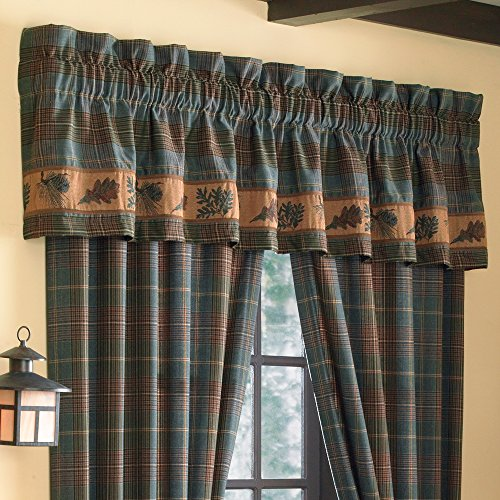 Croscill Caribou Tailored Window treatment Valance, Multicolor
