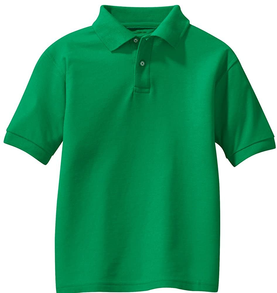 Joe's USA - Youth Polos - School Uniform Shirts in 14 Colors . Sizes Youth XS-XL USAL81414345