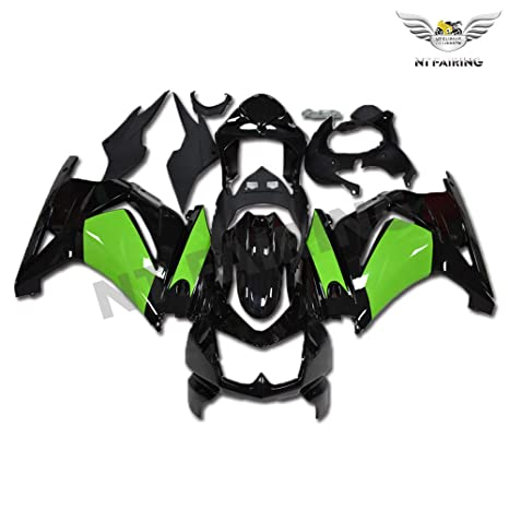 New Green Black Fairing Fit for Kawasaki Ninja 2008-2012 EX250 250R Injection Mold ABS Plastics Aftermarket Bodywork Bodyframe 2009 2010 2011 08 09 10 ...
