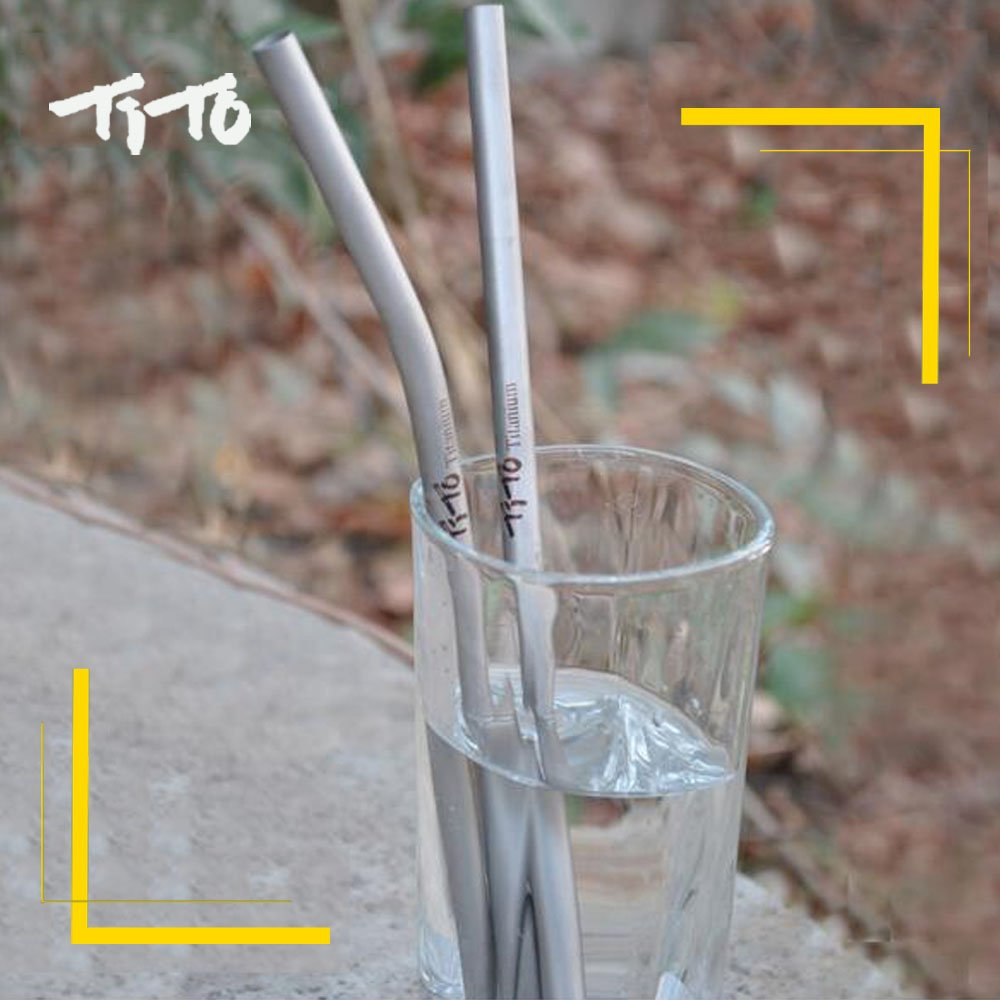 Sports & Entertainment Camping & Hiking Latest Collection Of Good Outdoor Camping Kitchen Drinking Family And Holiday Gift Straws Tito Titanium Straws Titanium Bend Straw Im