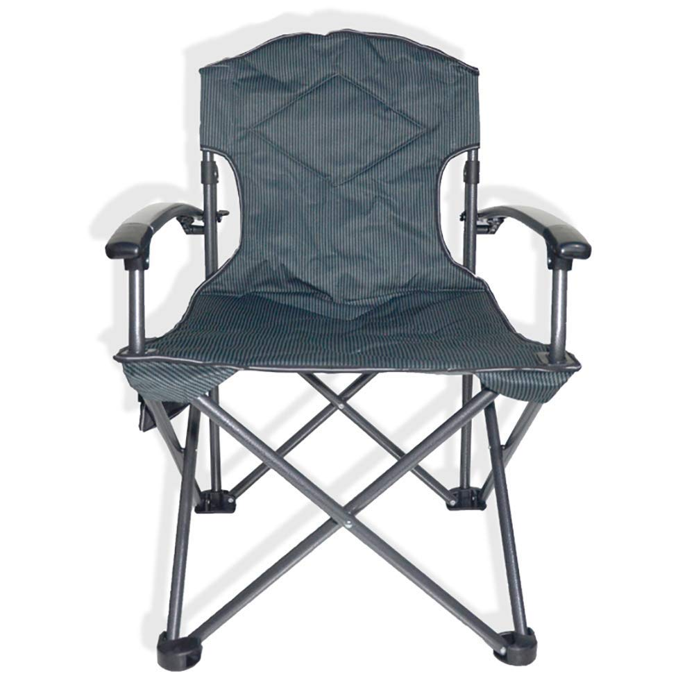 Folding Camp Chair Ultralight Portable Breathable Chairs Director Chair with Cup Holder Armrest for Festival, Beach, Hiking-Washblue by BSDBDF