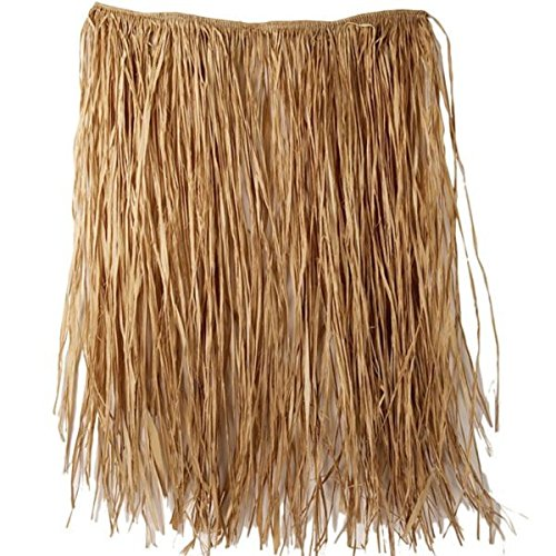 Amscan Adult Natural Grass Party Hula Skirt, 28