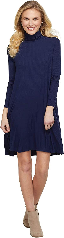 Mud Pie Women's Long Sleeve Turtleneck Dress