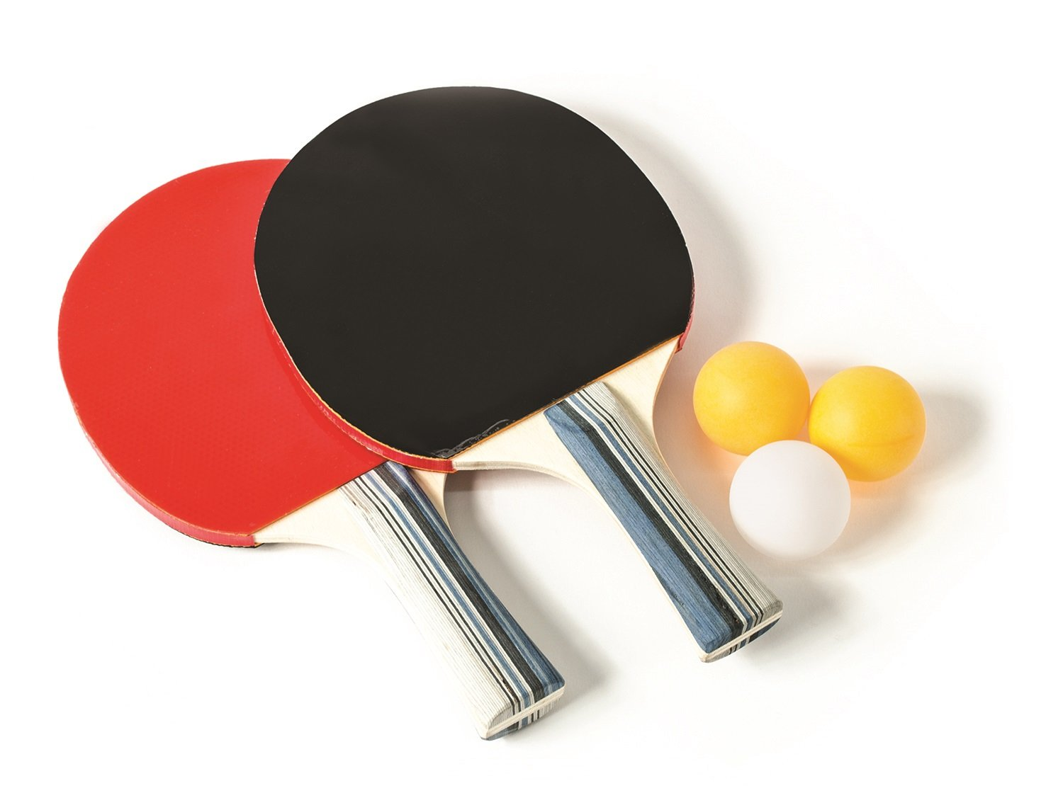 Laser Sports Novelty Ping Pong Balls & Paddles - For Friendly Competition (2 Player Set)