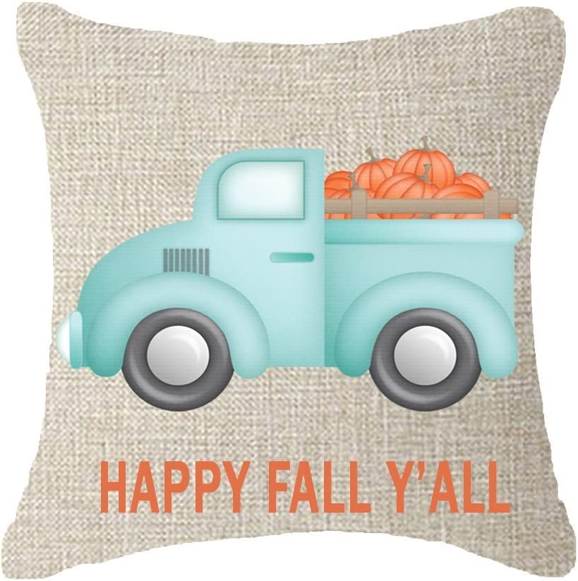 """FELENIW Best Thanks Gifts Pumpkin Harvest Throw Pillow Cover Cushion Case Cotton Linen Material Decorative 18""""x18'' Square (6)"""