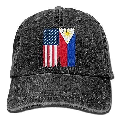 NZWJW85 2018 Adult Fashion Cotton Denim Baseball Cap American Philippines Flag Classic Dad Hat Adjustable Plain Cap