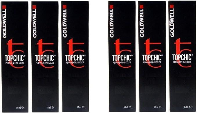 Goldwell Topchic 8NN rubio claro extra 6 x 60 ml Tinte ...