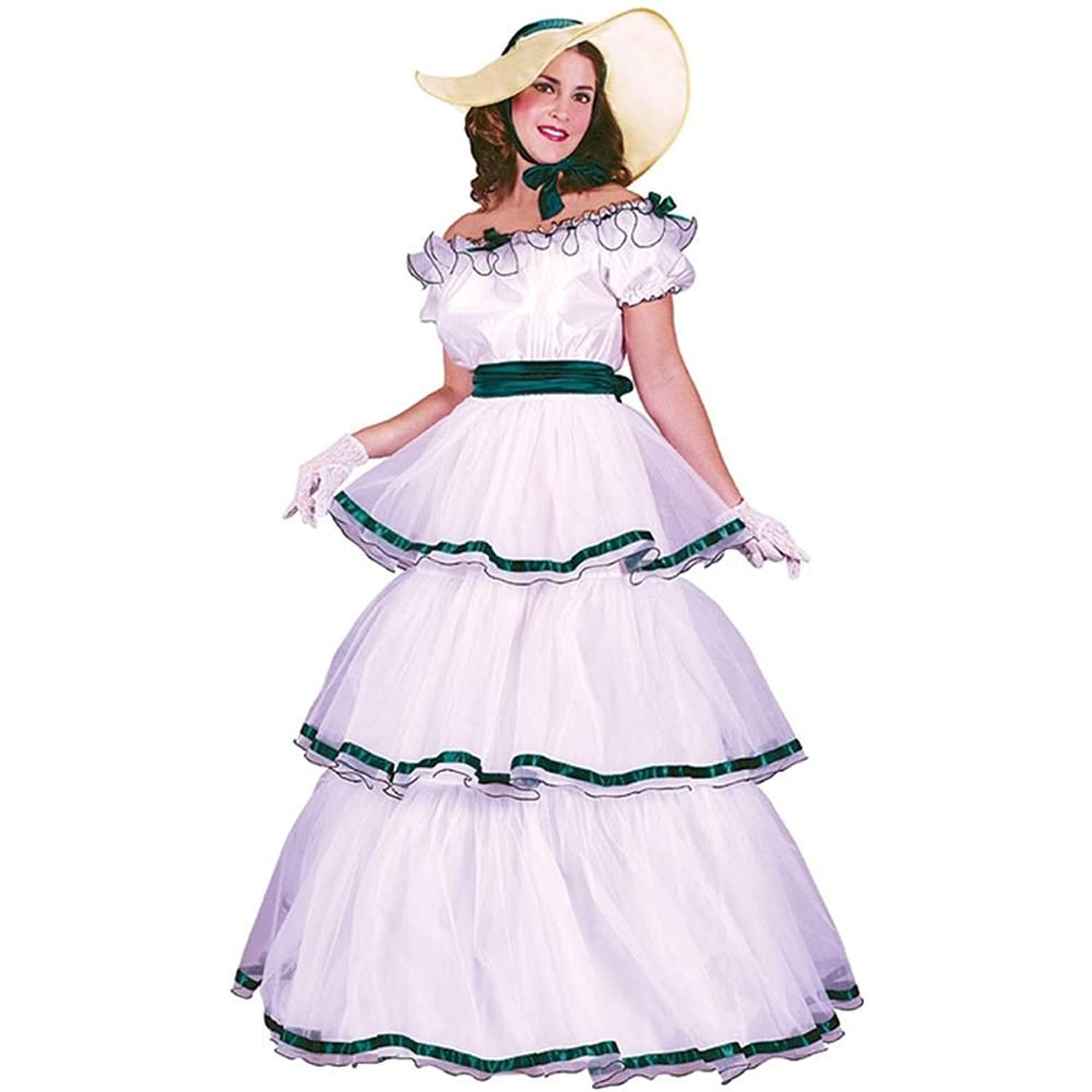 sc 1 st  Amazon.com & Amazon.com: Fun World Womenu0027s Southern Belle Costume: Clothing