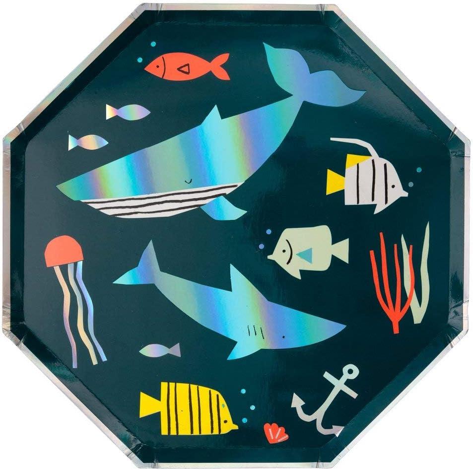 Shell Meri Meri Party // Lunchbox Napkins Mermaid // Undersea White // Silver