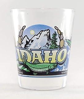 Idaho Wilderness Elk /& Bear Shot Glass World By Shotglass idahowildgldrim