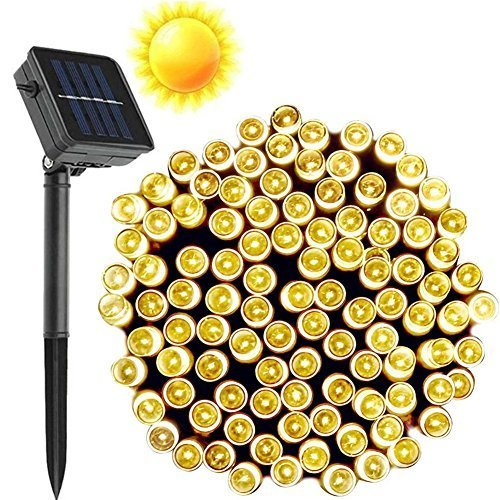 Solar Outdoor String Lights By Innoo Tech: Warm White Outdoor Solar Powered String Lights Christmas
