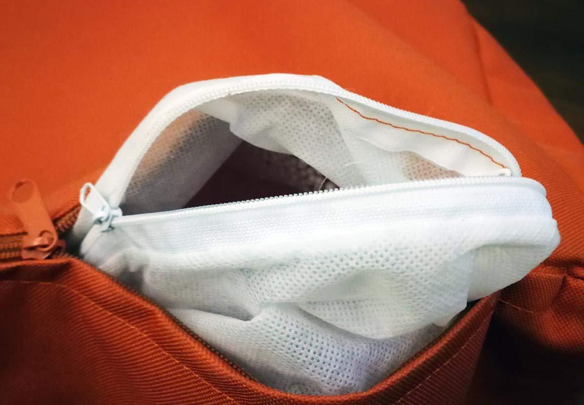 Arancione NC9 Ecopuf Keiko S Pouf Poltrona Sacco in Poliestere con Maniglia e Cerniera Antiperdita