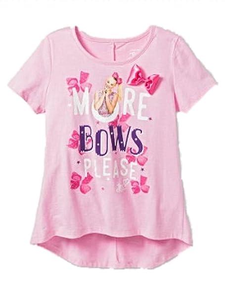 7c51d7c40 Amazon.com  Jojo Siwa Girls Nickelodeon Hi-Lo Short Sleeve T-Shirt ...