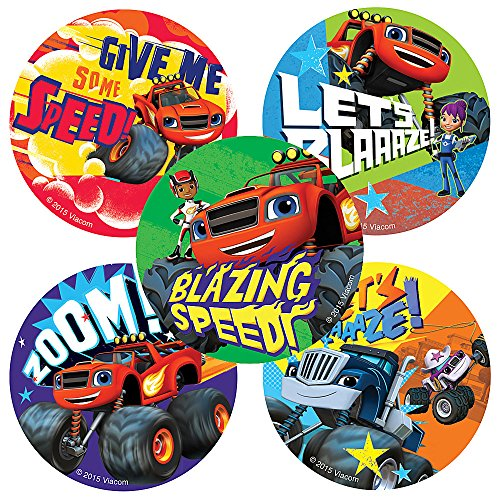 Blaze and the Monster Machines Stickers - Birthday and Theme Party Favors - 100 Per Pack ()
