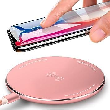 Rápido Cargador Inalámbrico Wireless-Yarrashop Rápido Qi Carga Rápida para iPhone 8/8 Plus iPhone X Samsung Galaxy S8/S8 Plus S7 S6 edge+ Plus/nota ...