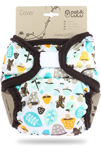 | Hook /& Loop Washable Diaper Wrap Newborn Made in Europe 4.4-13.2 lbs Blooming Garden Petit Lulu Cloth Nappy Cover Reusable Cloth Nappies