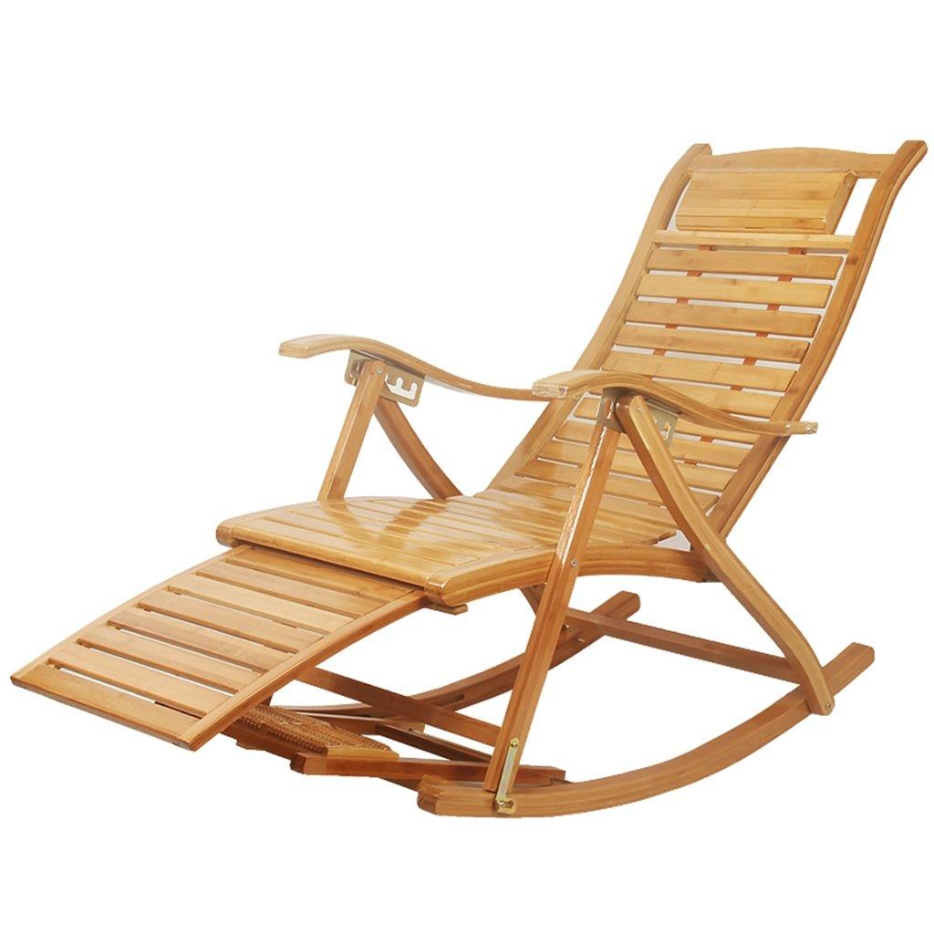 Sedia a dondolo in legno/Poltrona da riposo comoda Sedia a dondolo per adulto e per anziani Lazy poltrona da riposo per balcone Anziana poltrona da massaggio pieghevole per uso professionale Sedie a dondolo