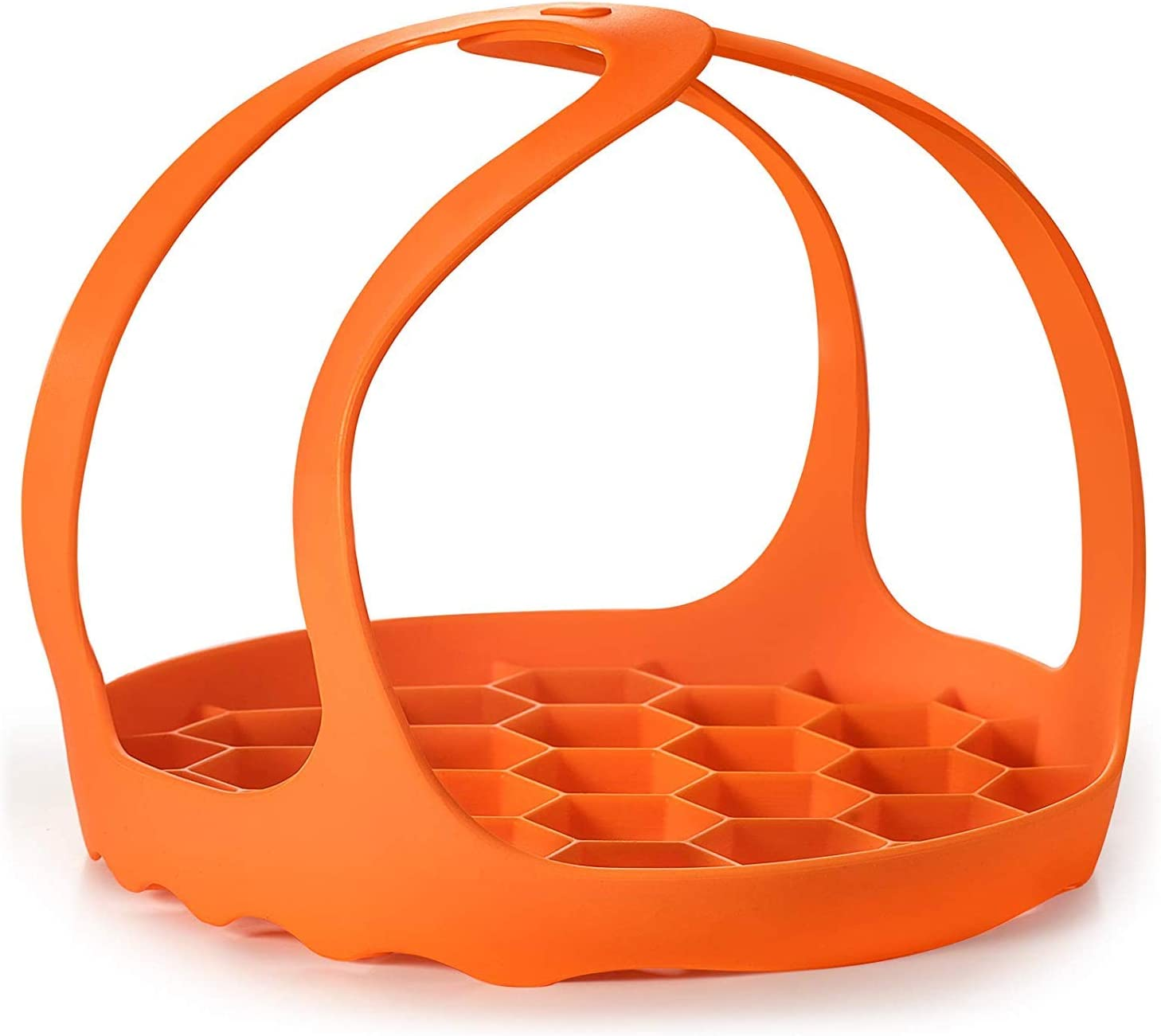 Multi-Function Pressure Cooker Sling - Silicone Bakeware Sling ,Anti-scalding Steamer Rack Lifter Accessories Compatible with Instant Pot 6 Qt and 8 Qt (Orange)