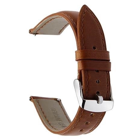 TRUMiRR 20mm Crazy Horse Pulsera de Cuero Genuino Banda de ...