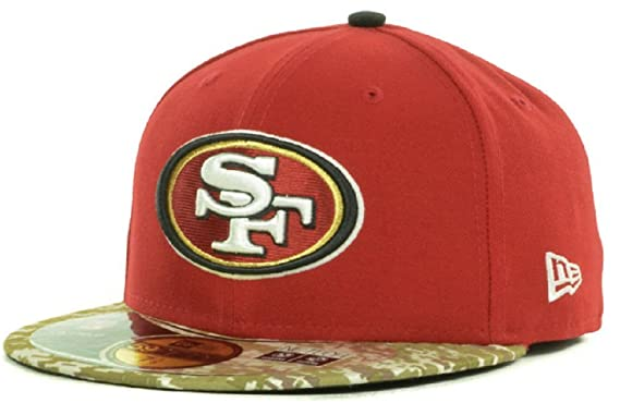 88d058414 Image Unavailable. Image not available for. Color  New Era San Francisco  49ers Salute To Service 59Fifty Fitted Cap ...