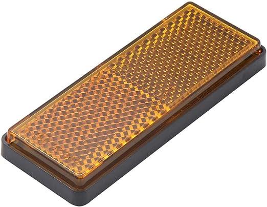 H Hilabee Orange Klar Rechteckiger Reflektor X10 Anhänger Zaun Torpfosten Selbstklebend Auto