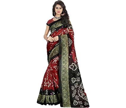 Indianstore24 Designer Bandhani Chappa Silk Saree Sari Bollywood