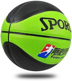 C.N. Élèves du Primaire et du secondaire PU entraînement Basket-Ball Maternelle Performance Basket-Ball,Vert Noir,Numéro 5