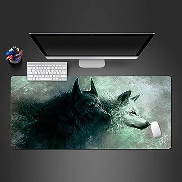 zlxzlx 800 * 300 * 3 MM Blanco y Negro Lobo Mouse Pad para Juego Game s Juego Alfombras Ordenador Oficina Teclado Ultra-Thin Table Mats Mouse Pad: Amazon.es: Electrónica