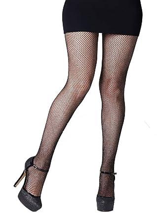 7a95dacb0eda6 Gipsy Glitter Fishnet Tights-Black -One Size: Amazon.co.uk: Clothing