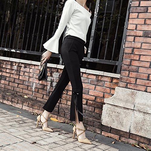 Testa 2 Tacco GZSL Pesce Alto Heels 1521 Pole Super Sexy Scamosciata Elegante Poco Di Dance Pelle KJJDE Sandali High apricot Profonda Sexy Donna YnIw5Pxq