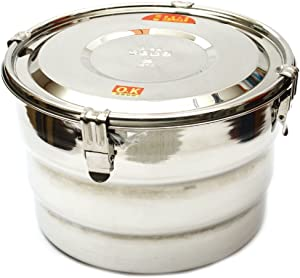 GS Stainless Steel Round Airtight Kimchi Food Storage Container (3L / 101oz)