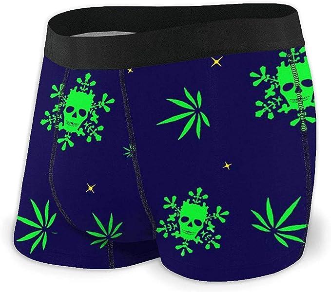 Web--ster Marihuana con Calaveras Calzoncillos bóxer para Hombre ...