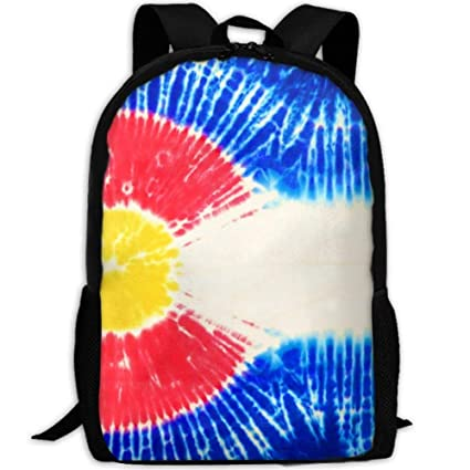 Amazon com: Backpack CYMO Tie Dye Colorado Flag Womens Laptop