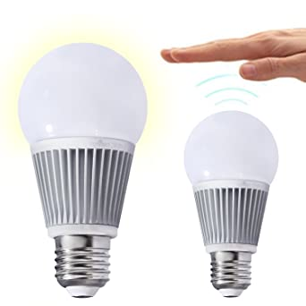 Sunthin – Bombilla LED de E27 7W con sensor de movimiento, bombilla LED con