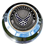 MotorDog69 Harley Gas Cap Coin Mount Set with Air Force Veteran for Softail Dyna Road King Sportster……