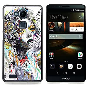 Stuss Case / Funda Carcasa protectora - Woman Colorful Abstract Style - HUAWEI Ascend MATE 7
